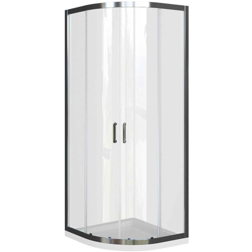 Domino polukružna kabina krom profil prozirno staklo